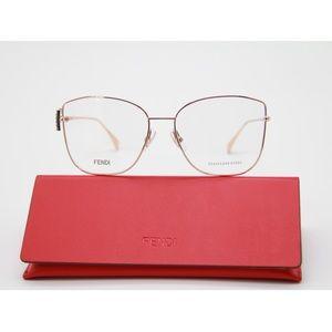 New FENDI Eyeglasses FF 0390/G DDB Gold FF0390/G